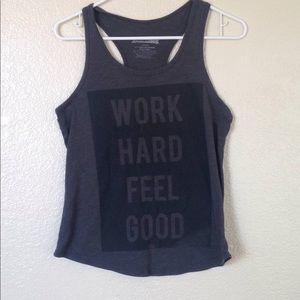 Tops - Work hard feel good tank top